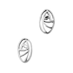Mackintosh Glasgow Rose Silver Plated Stud Earrings 9196